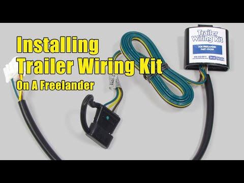 Installing Trailer    Wiring    Kit on a Land    Rover    Freelander  YouTube