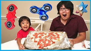 DIY GIANT FIDGET SPINNER PIZZA and Fidget Spinners Collections