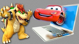 Tayo The Little Bus & Disney Cars 3 | Lightning McQueen Come Out From The Computer | Toys For Kids