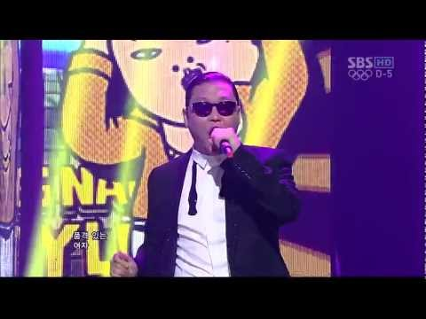 PSY_0722_SBS Inkigayo_GANGNAM STYLE () Music Videos