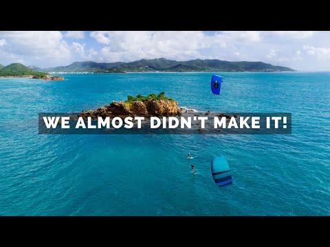 Kitesurfing 130km Around Antigua!