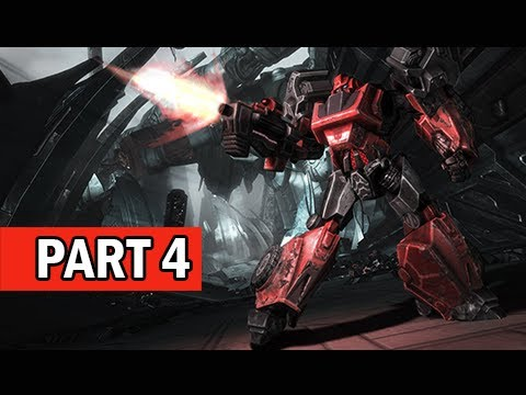 Transformers Rise of the Dark Spark Walkthrough Part 4 - Getaway (PS4 Gameplay Commentary)