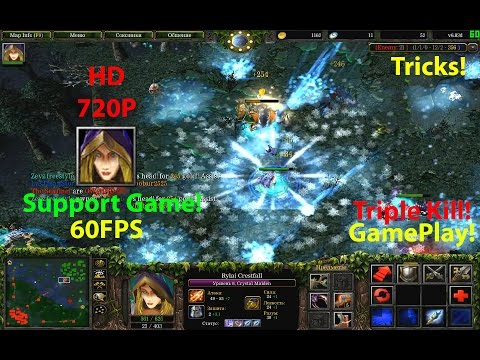 ★DoTa Cristal Maiden - 6.83★Suport Game!★ Triple Kill + Tricks!!!★