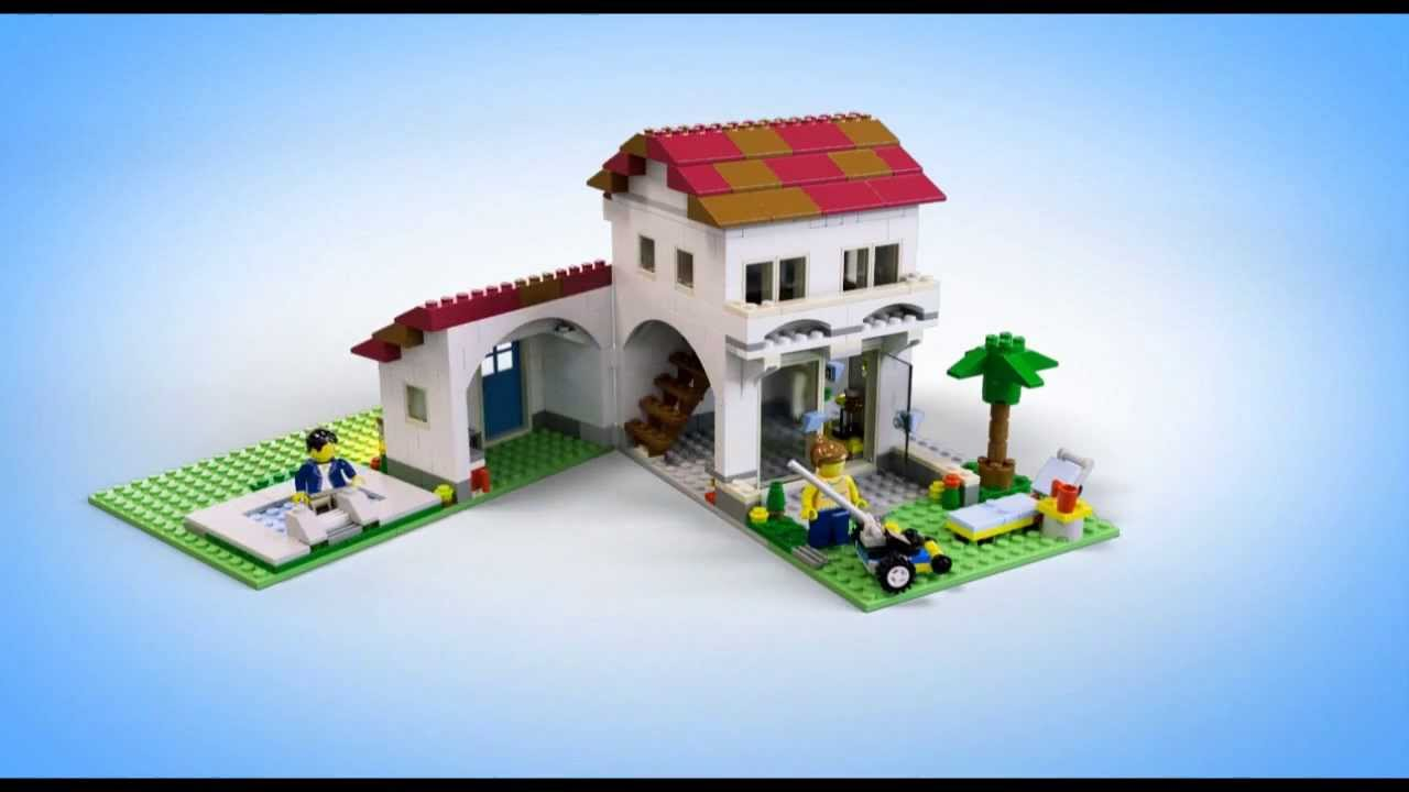Lego creator buildings 31012 family house lego 3d for 3d house maker online