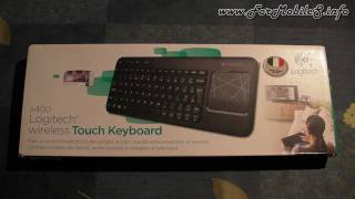 Unboxing di Logitech K400 wireless Touch Keyboard - esclusiva italiana !
