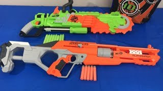 Box of Toys Toy Guns NERF Guns Zombie Strike