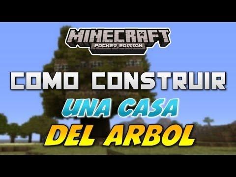 Como Construir Una Casa De Árbol - Fácil y Rápido   Minecraft Pocket Edition