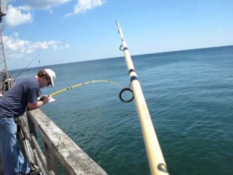 NJ Fishing Pier Stingray Fishing Seaside Heights New Jersey 2011