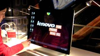 Ztop na CES 2012_ Demonstração do IdeaCentre A720 All-in-One