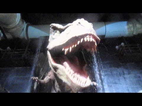 Jurassic Park The Ride Front Seat on-ride HD POV Universal Studios Hollywood
