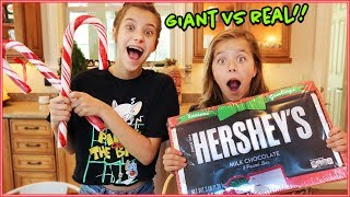 GIANT CANDY VS REAL **CHRISTMAS EDITION**
