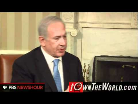 Barack Obama Israeli Prime Minister Benjamin Netanyahu at the White House discussing 1967 Borders