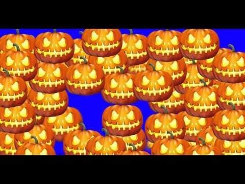 Halloween Pumpking Transition - Green Screen Animation thumbnail
