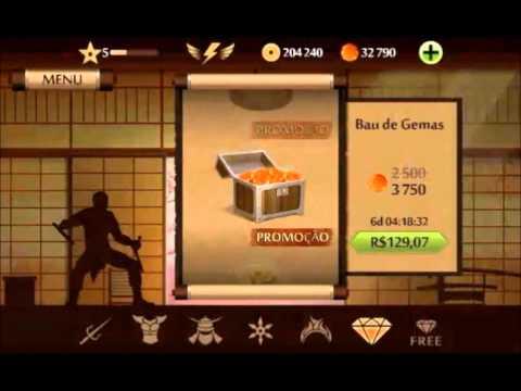 Hack dinheiro infinito e gemas para shadow fight 2 - Android