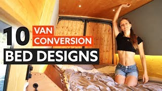 10 Awesome BED DESIGNS for your VAN CONVERSION 🛏 🚐