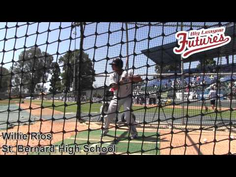 Willie Rios, St Bernard High School, Batting Practice at the @acbaseballgames - 04/04/2014