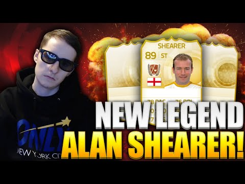 NEW LEGEND ALAN SHEARER IN PACKS FIFA 15 PACK OPENING W/ 90 RATED PLAYER + INFORMS
