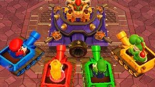 Mario Party 10 - Minigames - Mario vs Luigi vs Peach vs Yoshi
