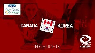 HIGHLIGHTS: Canada v Korea – Round-robin – Ford World Women's Curling Championship 2018