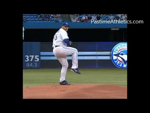 MARK BUEHRLE Slow Motion Pitching Mechanics Baseball Instruction Analysis Toronto MLB