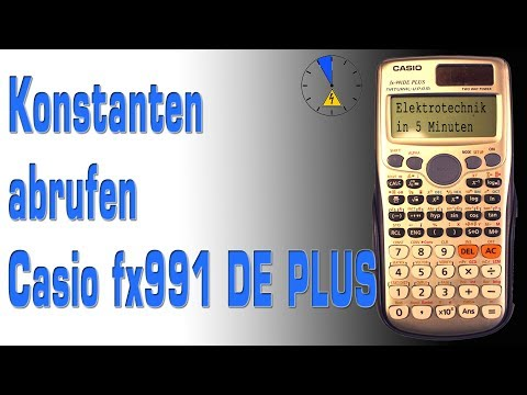 Konstanten des Taschenrechner CASIO fx 991 DE PLUS