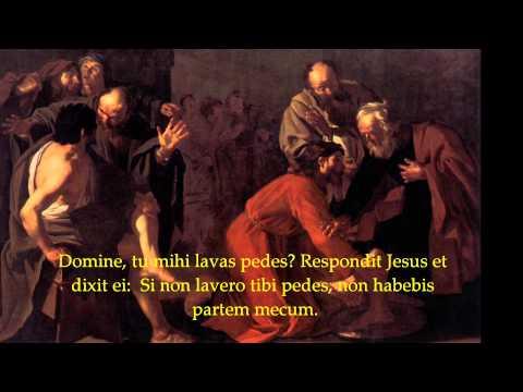 Gregorian Chant - Mandatum novum do vobis