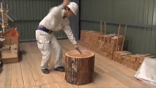 Amazing Woodworking Traditional Japanese Technology Still Being Used - Entrance of Shingle Roofing