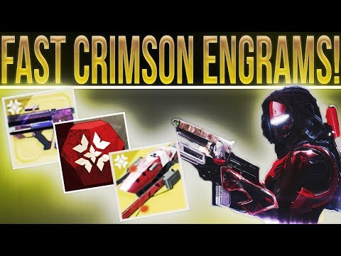 Destiny 2. FAST CRIMSON ENGRAMS! (Everything You Need To Know & Earn loot In Crimson Days!)