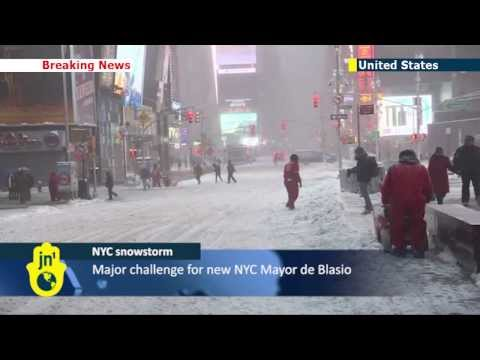 Storm Hercules: NYC snowstorm shuts down flights and schools