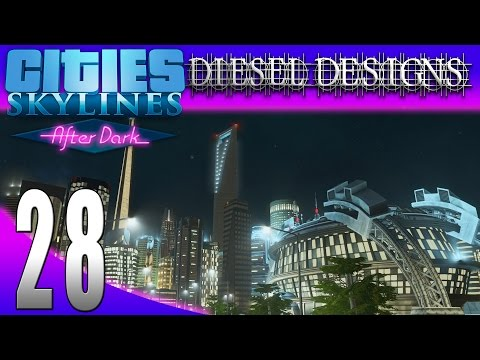 Cities: Skylines: After Dark:S7E28: Shanghai World Financial Center! (City Building Series 1080p)