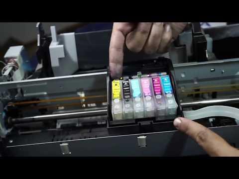 como desarmar le cabezal o inyector de impresora epson r290 parte 1