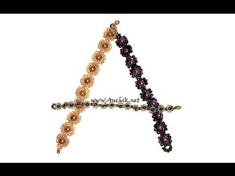 """Смотреть: Как плести браслеты из бисера и бусин  """"Цветочки """"? как сделать браслет из бисера и бусин."""