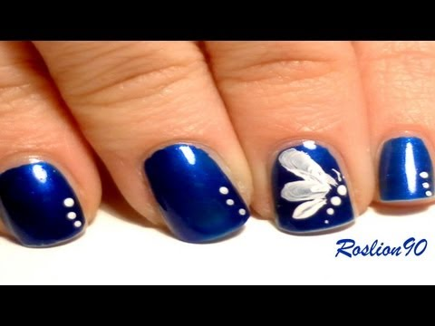 Easy One Stroke Butterfly nail art