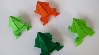 Origami Jumping Frog -rana Saltarina