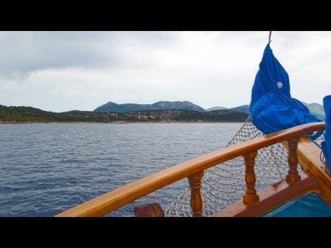 Boat trip around Lefkas island (6) - MS Christina Nydri habour Greece, Lefkada