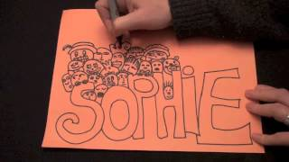 Orange Doodle  (Doodle tutorial, ASMR, no speaking, tingly triggers) ASMR Sounds by Sophie