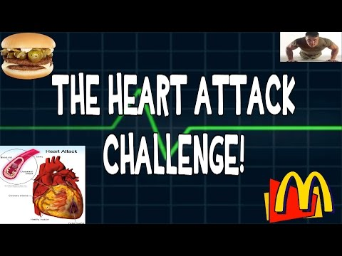 McDonalds Heart Attack Challenge - 10 McDoubles & 100 Push Ups | FreakEating vs the World 74