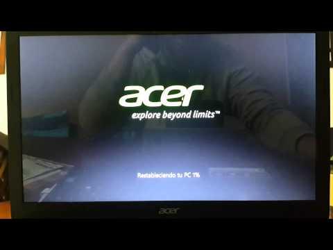 Notebook Acer Aspire   Restaurar  sistema operativo al estado de fabrica