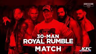 WWE Royal Rumble 2018: Royal Rumble Match - Official Match Card