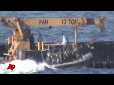 Raw Video: French Navy in Caribbean Drugs Bust