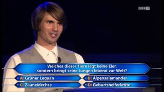 Die Millionenshow - Mathias Stockingers Millionenfrage