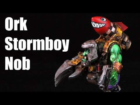 How to paint an Ork Stormboy? Warhammer 40k Stormboyz painting tutorial Buypainted