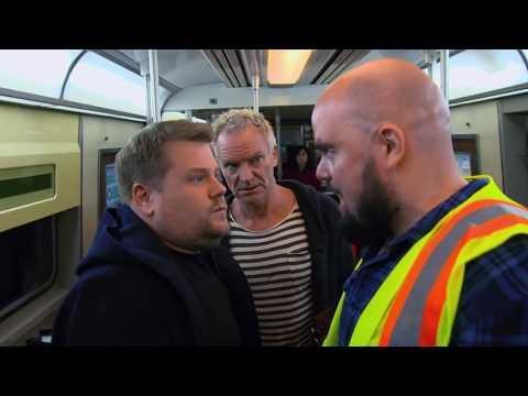 James Corden, Sting, & Shaggy Attempt Subway Karaoke | 60th GRAMMYs