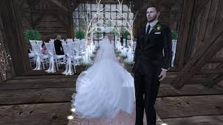 Jason & Emery Second Life Wedding - 1.12.19