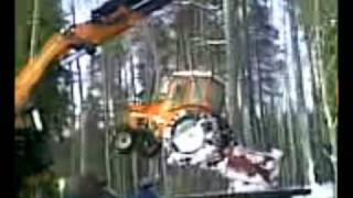 Valmet 604 tractor accident