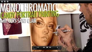 How to Airbrush Portraits - Monochromatic Candy Airbrushing with Cory Saint Clair