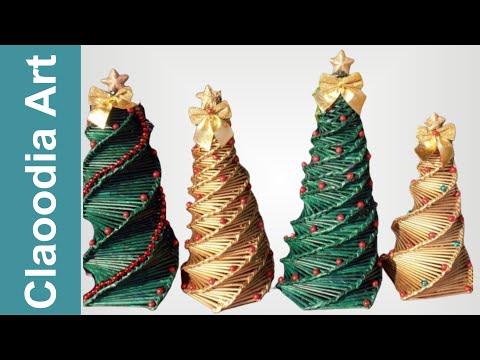 Jak Zrobić Choinkę Z Papierowej Wikliny? (Christmas Tree, Paper Wicker)