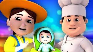 Pat una torta | canções infantis | música para crianças | Pat A Cake | Farmees Português