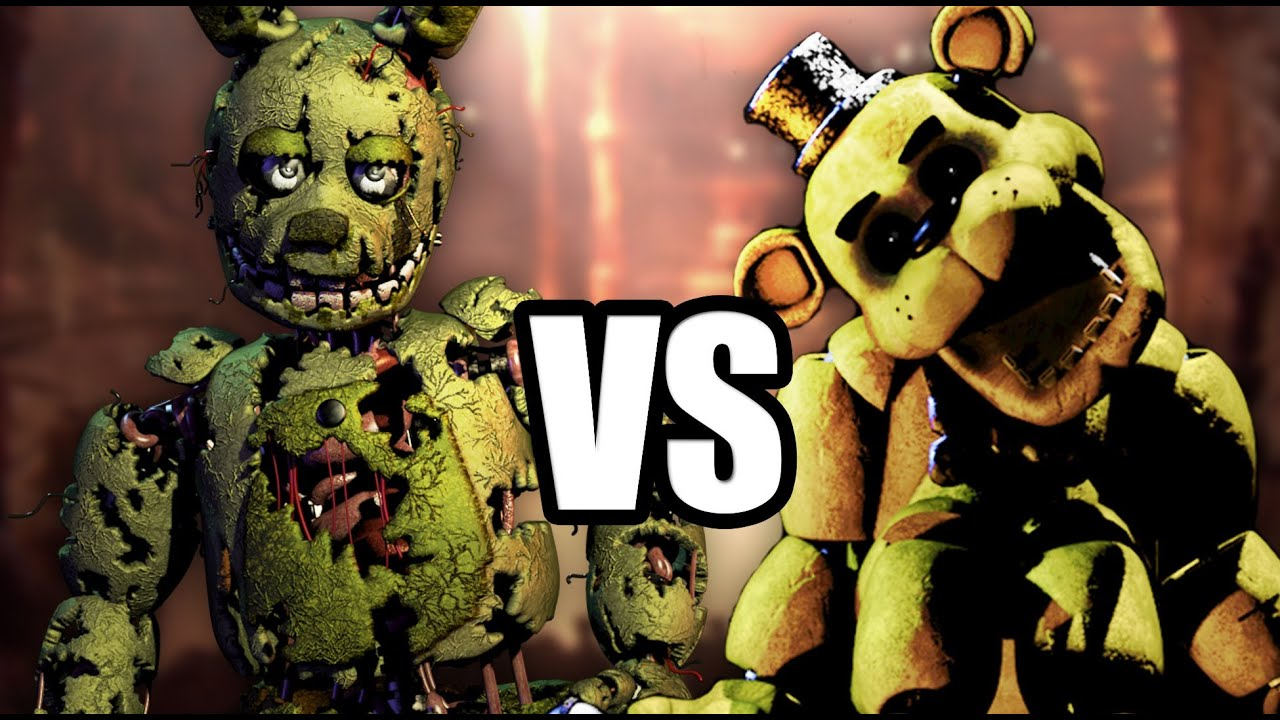 Golden freddy vs foxy