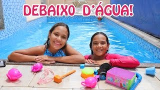 DESAFIO NA PISCINA COM A MINHA IRMÃ! - JULIANA BALTAR